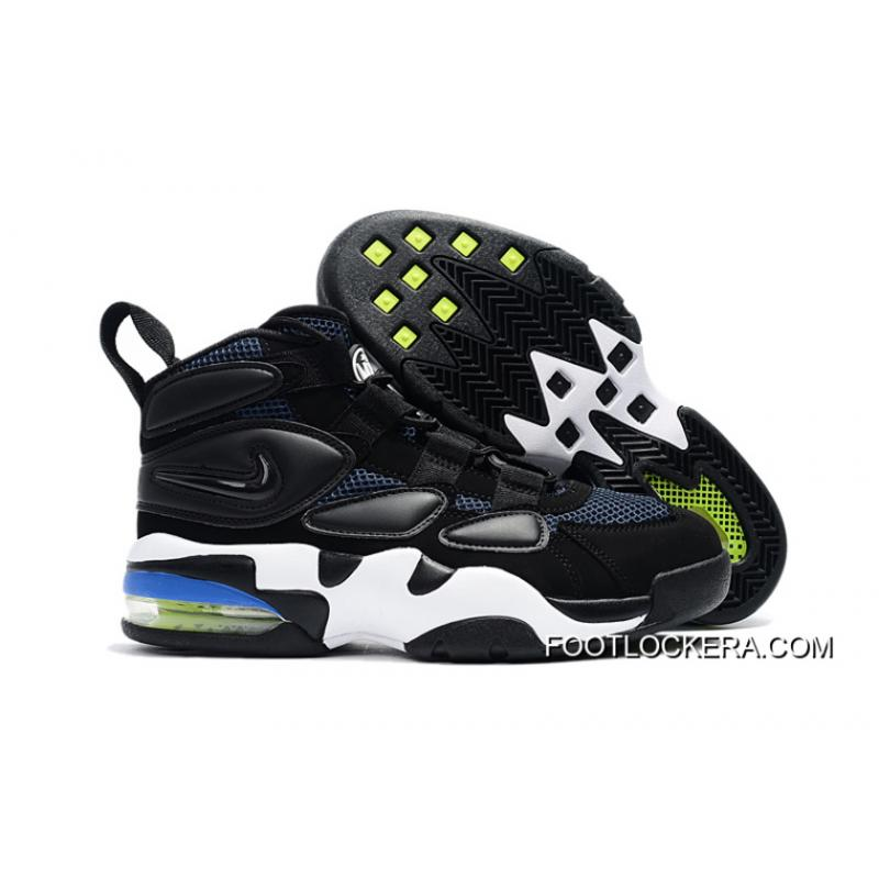 48c75b0aec87ae Nike Air Max Uptempo 2 Black White Blue Sneakers On Sale Discount ...