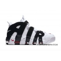Nike Air More Uptempo White/Black-Red Online Cheap To Buy