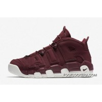 """Nike Air More Uptempo """"Bordeaux"""" Night Maroon-Sail Hot Sell Lastest"""