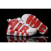 Nike Air More Uptempo White/Gym Red Cheap To Buy