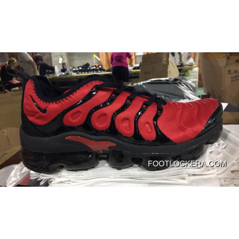 sports shoes a87af f83d9 Nike Air VaporMax TN 2018 Plus Black And Red Veins Online