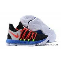 Nike KD 10 Black/Red-Cool Grey-Blue New Year Deals