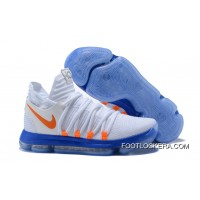 Copuon Nike KD 10 White Blue Orange