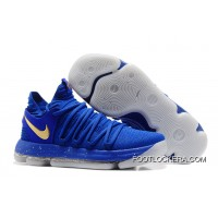 Nike KD 10 Finals PE Blue Gold New Style