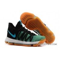 "Nike KD 10 ""Birds Of Paradise"" Black/Clear Jade New Year Deals"