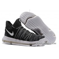 "Latest Nike KD 10 ""Oreo"" Black/White"