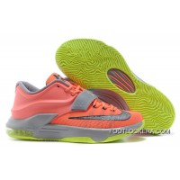 "Nike Kevin Durant KD 7 VII ""35000 Degrees"" Bright Mango/Space Blue/Light Magnet Grey Lastest"