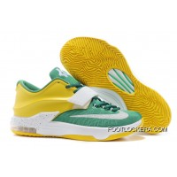 "Nike Kevin Durant KD 7 VII ""Draft Day"" Apple Green/Yellow Strike-White Super Deals"