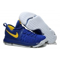 """Nike KD 9 """"Golden State Warriors"""" Blue Yellow White New Release"""