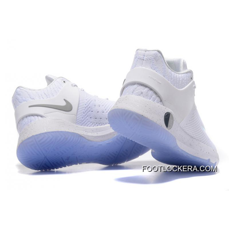 d285e40a7ad ... Nike KD Trey 5 Knit White Baby Blue Sneakers On Sale Free Shipping ...