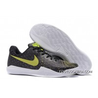 Nike Kobe 12 Black/Volt-White Men's Basketball Shoe For Sale