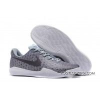 Nike Kobe 12 Grey/Black-White Men's Basketball Shoe Super Deals