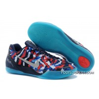 "Nike Kobe 9 EM ""Independence Day"" White/Metallic Silver-Hyper Cobalt-Action Red Discount"