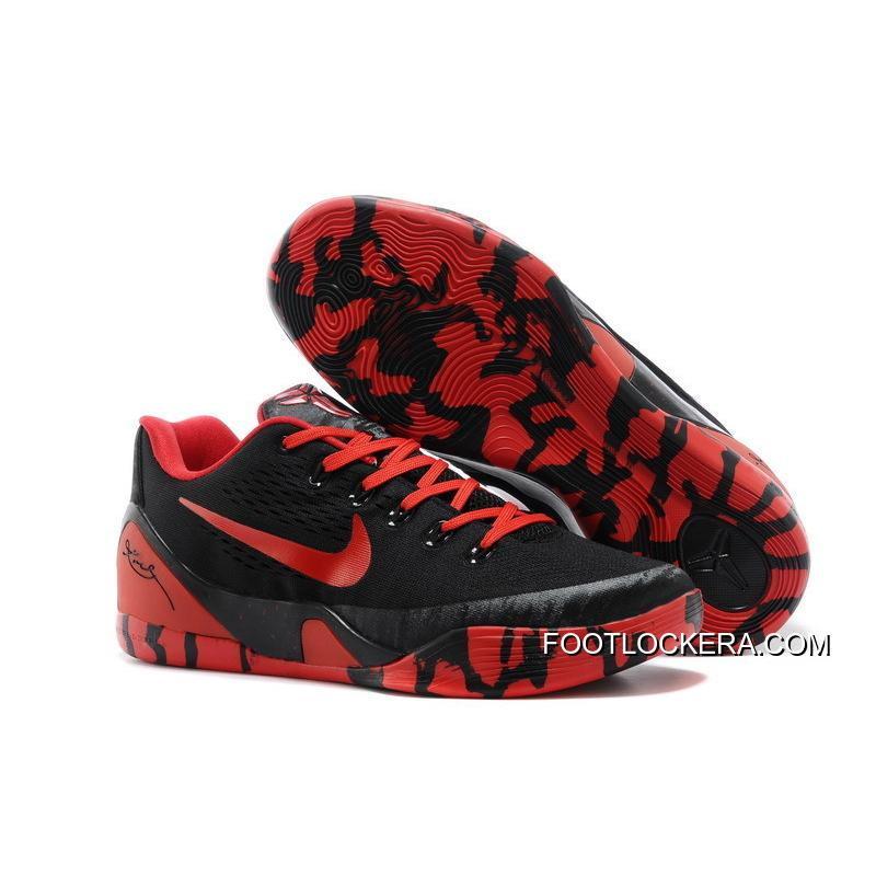 Nike Kobe 9 Low EM XDR Black Red For Sale ...