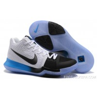 Nike Kyrie 3 White Black Blue Gradient Midsole Fast Shipping Best