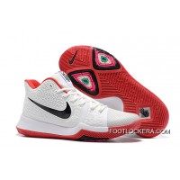 Nike Kyrie 3 White Red Black Basketball Sneakers Free Shipping