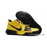 """Nike Kyrie 3 """"Bruce Lee"""" Tour Yellow/Black Hot Sell New Style"""