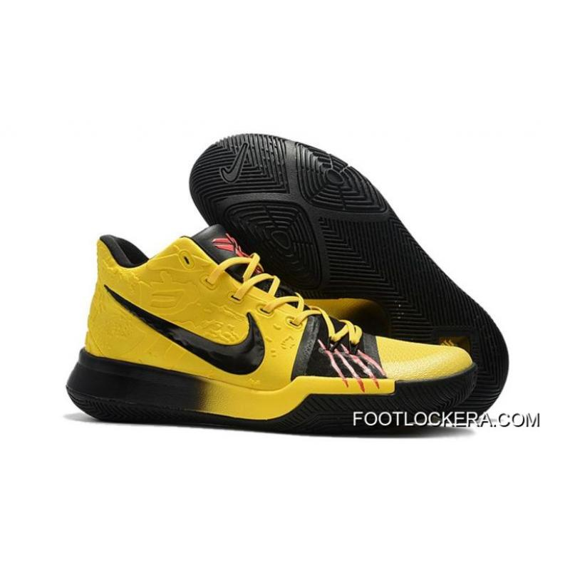 """premium selection c4e47 c90f9 Nike Kyrie 3 """"Bruce Lee"""" Tour Yellow/Black Hot Sell New Style"""
