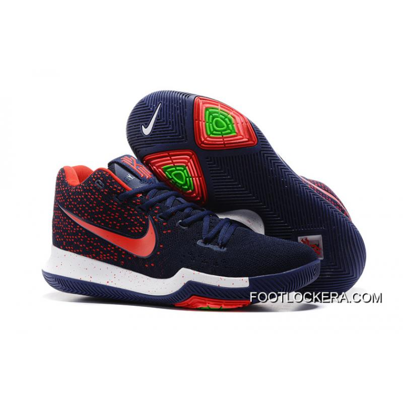 the best attitude adee8 d4b25 Nike Kyrie 3 Dark Blue Red Shoes For Men Copuon Code ...