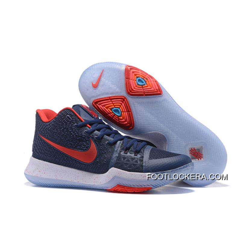 best authentic b7aeb f1549 Nike Kyrie 3 Obsidian Blue/White-Red Copuon Code