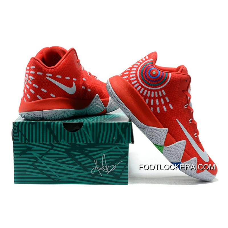 on sale 66fe7 ae10b Nike Kyrie 4 Mens Basketball Shoes Red Authentic