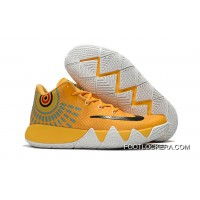 Nike Kyrie 4 Yellow White/Black Basketball Shoes On Sale Lastest