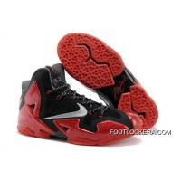 "Nike LeBron 11 ""Away"" Black/Metallic Silver-University Red-Bright Crimson-Dark Grey Authentic"
