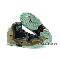 "Nike LeBron 11 ""King's Pride"" Parachute Gold/Arctic Green-Dark Loden-Black-University Red For Sale"