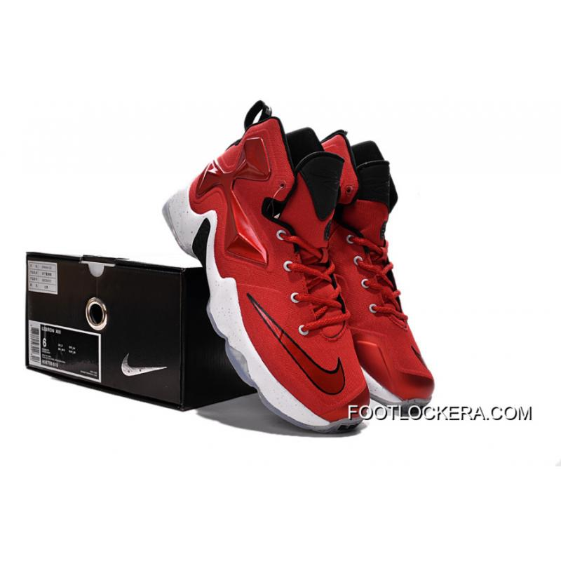 1d0e68ef545b ... Nike Lebron 13 Gym Red Black White Men Basketball Shoes For New Style