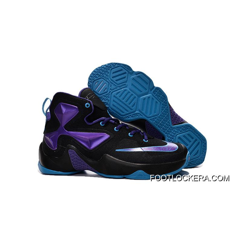size 40 83c38 baf2a Nike Lebron 13 Hornets Club Purple Black Vivid Blue For Authentic ...