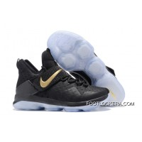 Nike LeBron 14 Black Gold Shoes For Men Authentic