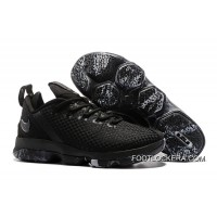 "Nike LeBron 14 Low ""Triple Black""Sneakers On Sale New Release"