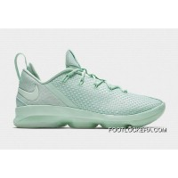 "Latest Nike LeBron 14 Low ""Mint Green""Men Sneakers Hot Sell New Release"