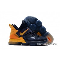 New Arrival Nike LeBron 14 Navy/Yellow-Red Lastest