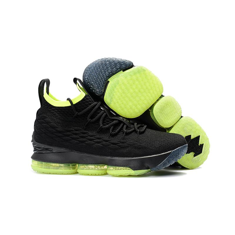 big sale 2da8b c3783 Super Deals Nike LeBron 15 Black Volt Shoes Online