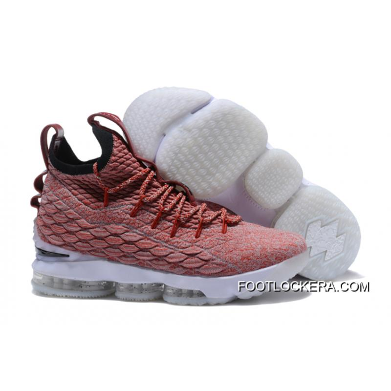 a45d4971393 New Style Nike LeBron 15 Red Flyknit White Basketball Shoes ...