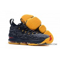 Nike LeBron 15 Navy Blue/Yellow-Red Discount