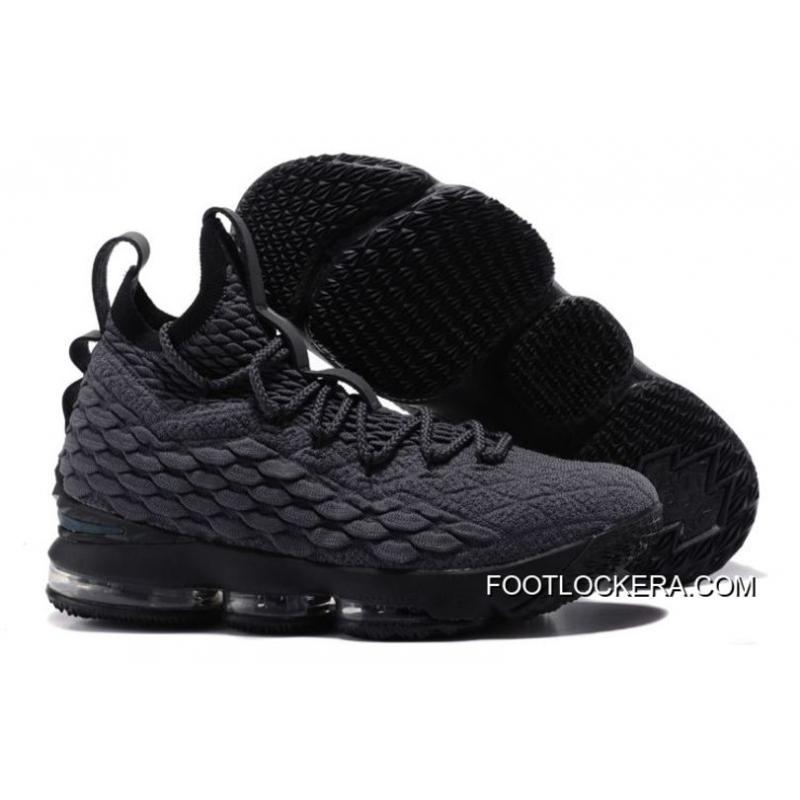 Nike LeBron 15 Dark Grey-Black Sneakers On Sale Authentic ...