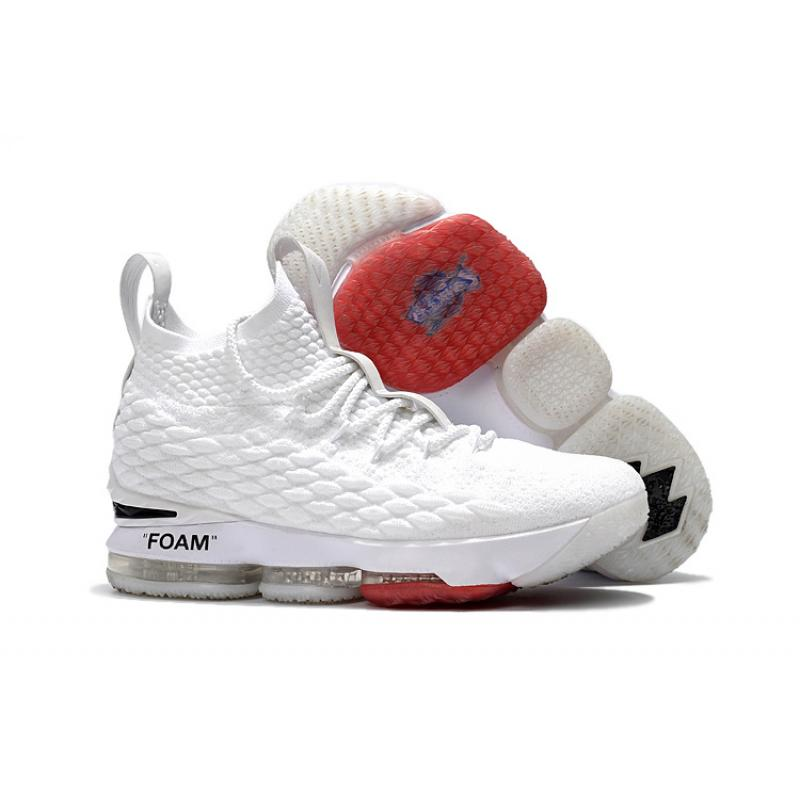 9b4c575c952e OFF-WHITE X Nike LeBron 15 White Outlet ...
