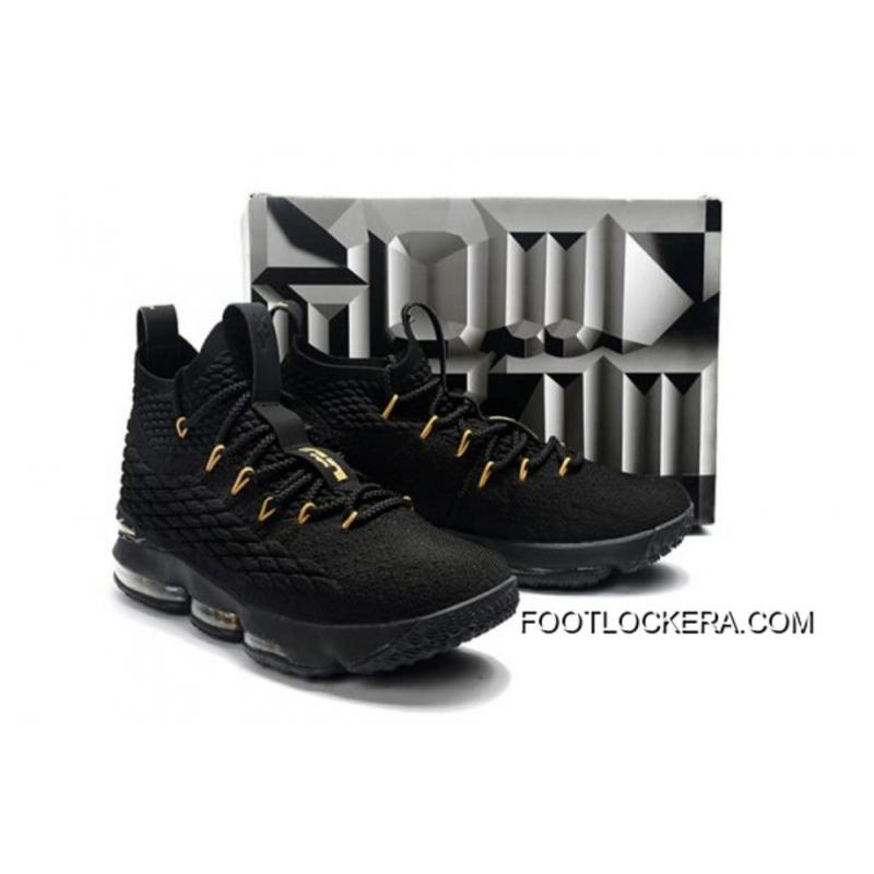new product 2a946 18d60 Nike LeBron 15 Black And Gold Copuon