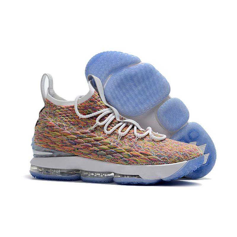 18a5bd589eb Nike LeBron 15  Fruity Pebbles  White And Multi-Color Best ...