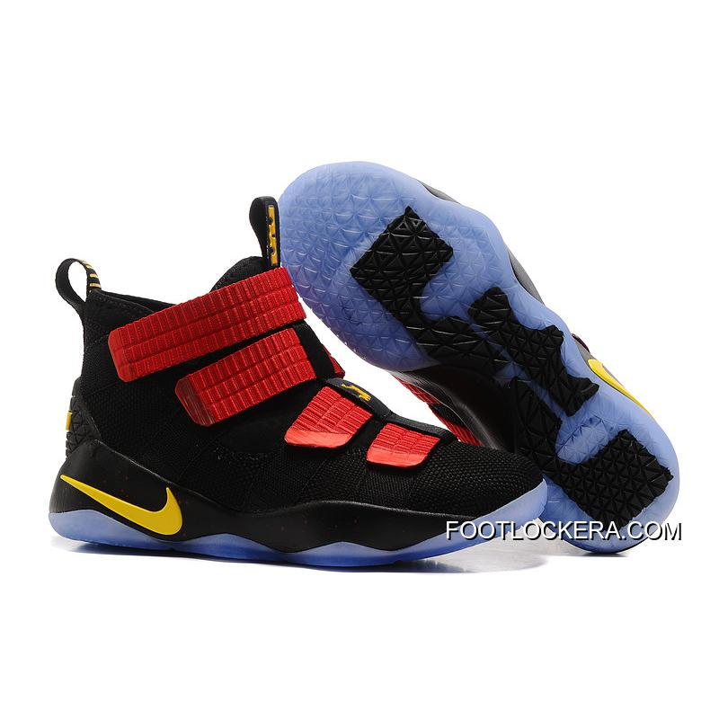 sale retailer 9eef6 95081 Nike LeBron Soldier 11 Black Red Yellow PE High Quality Authentic