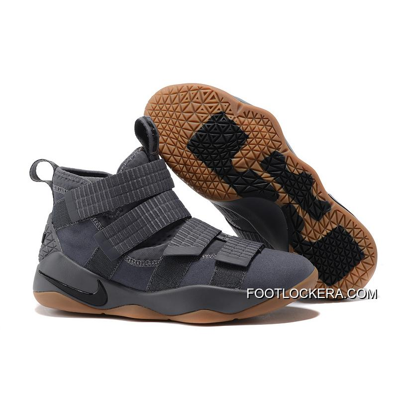 """buy popular 24e9b 3205a D Nike LeBron Soldier 11 """"Grey Gum"""" New Release ..."""