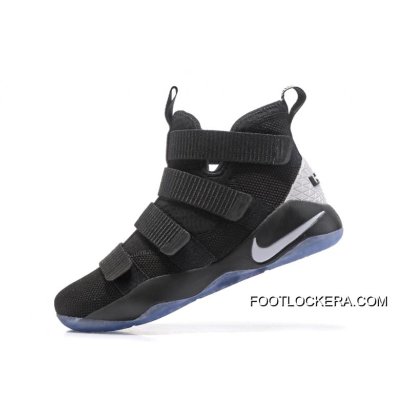 ... Nike LeBron Soldier 11 Black White High Quality On Sale Best ...