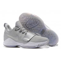 Nike Zoom PG 1 Silver Grey Basketball Sneakers New Release