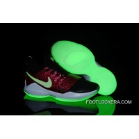 Latest Nike Zoom PG 1 Black/Wine Red Fish Scales Glow-in-the-dark Soles Authentic