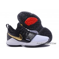 New Arrival Nike Zoom PG 1 Black White Gold Online Cheap To Buy