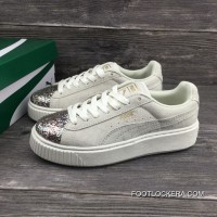 Puma Basket Creeper Blink White For Women Authentic