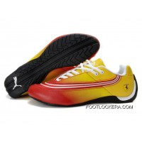 Puma Ferrari Leather Shoes Yellow/Red/White 2018 New Year Deals