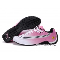 2018 Top Deals Puma Ferrari Leather Shoes White/Black/Pink